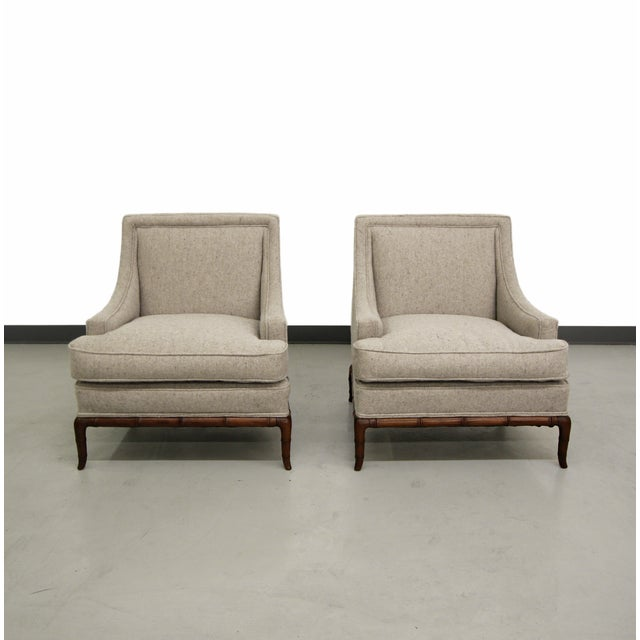 Bamboo Base Mid-Century Lounge Chairs - A Pair - Image 4 of 7