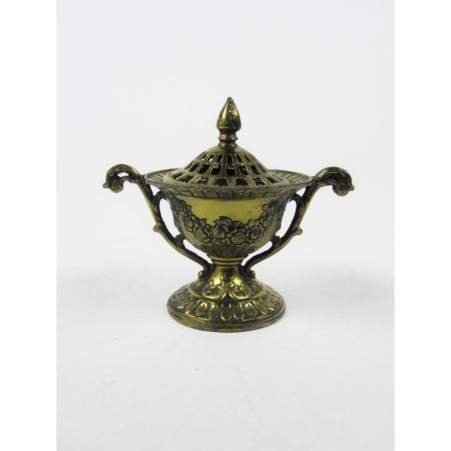 Japanese Brass Incense Burner - Image 2 of 5