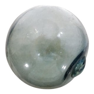 Large Aqua Glass Fishing Float