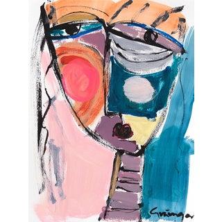 "Lesley Grainger ""Peach Girl"" Original Face Painting"