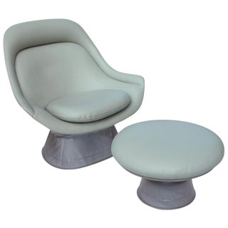 Warren Platner for Knoll Lounge Chair & Ottoman - A Pair