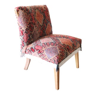 Vintage Mid-Century Moroccan Rug Chair