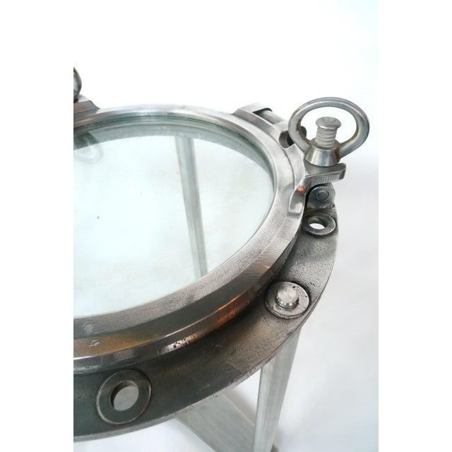Custom-Made Porthole Side Tables - A Pair - Image 2 of 4
