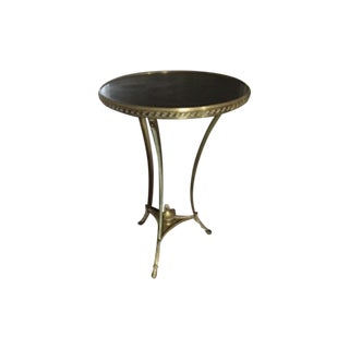 Brass & Marble Gueridon Side Table
