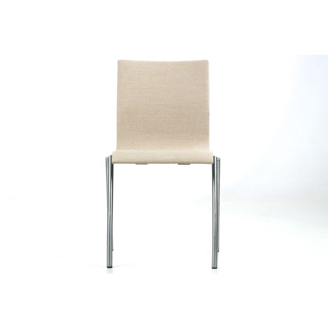 Danish Modern Brushed Steel Side Chair by Kvist - Image 3 of 11