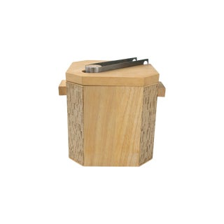 Georges Briard Wood & Cork Ice Bucket