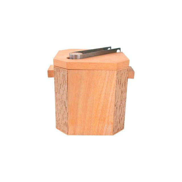 Georges Briard Wood & Cork Ice Bucket - Image 1 of 9