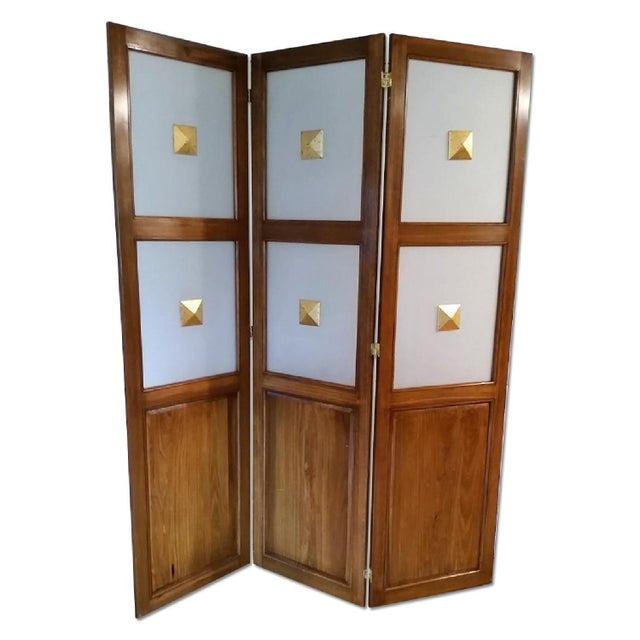Image of Vintage Art Deco Wooden Screen