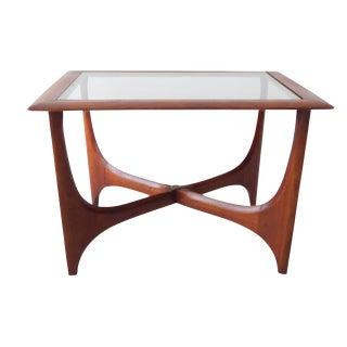 Lane Vintage Mid-Century Wood & Glass Side Table