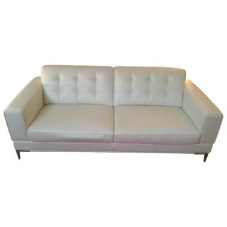 Modani Bristol White Leather Couch