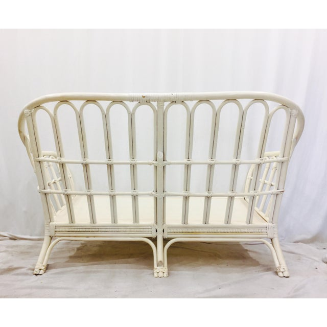 Vintage Rattan Love Seat Sofa - Image 7 of 9