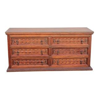 Antique Carved Spanish Boxwood Dresser