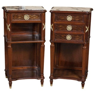 Pair of Louis XVI Style Nigh Tables Possibly by Grohe