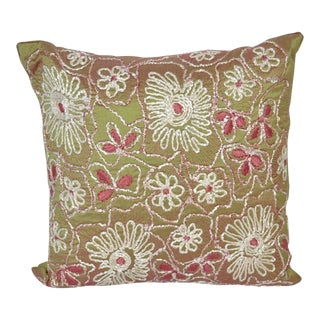 Anke Dreschel Embroidered Silk Pillow