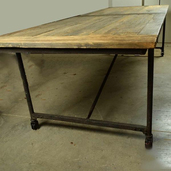 Restoration Hardware Reclaimed Elm Dining Table - Image 4 of 5