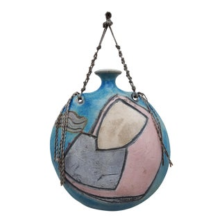 Vintage Studio Pottery Wall Art Hanging by Maire