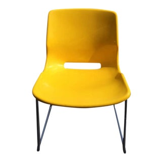 Signed Overman Yellow Side Chair
