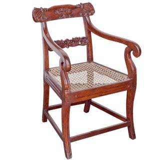 Early 20th C. Anglo-India Armchair