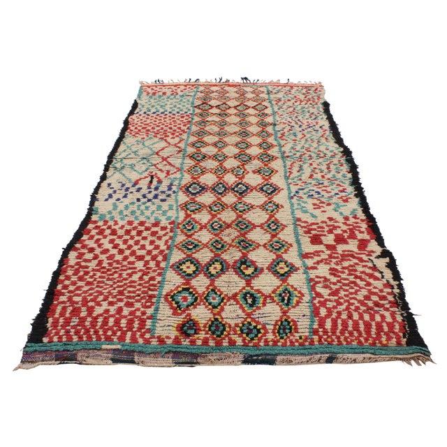 Vintage Moroccan Berber Tribal Motif Rug - 4′4″ × 8′6″ - Image 3 of 7