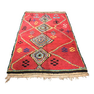"""Bellwether Rugs Vintage Moroccan Azilal Area Rug - 4' X 6'6"""""""