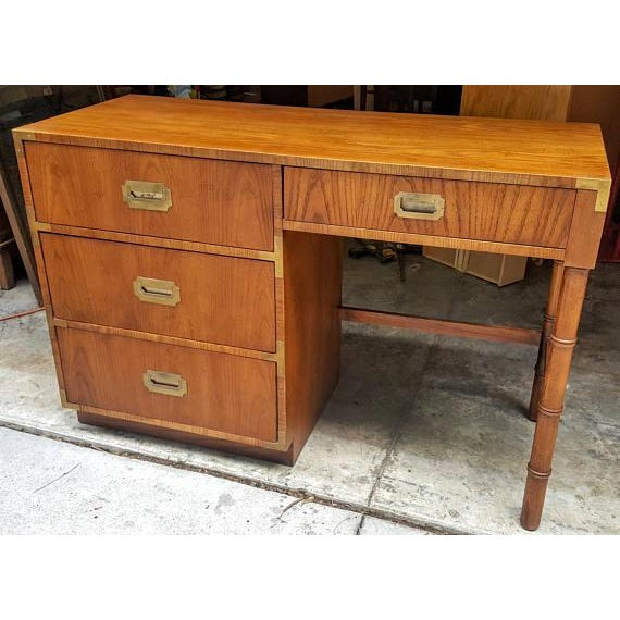 Mid-Century Dixie Campaign Style Desk - Image 3 of 7
