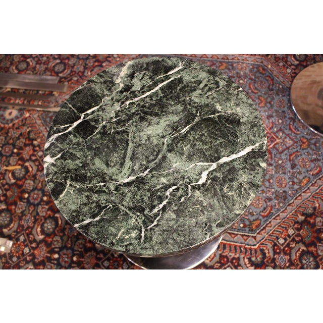Zographos Side Table with Green Marble Top - Image 3 of 5