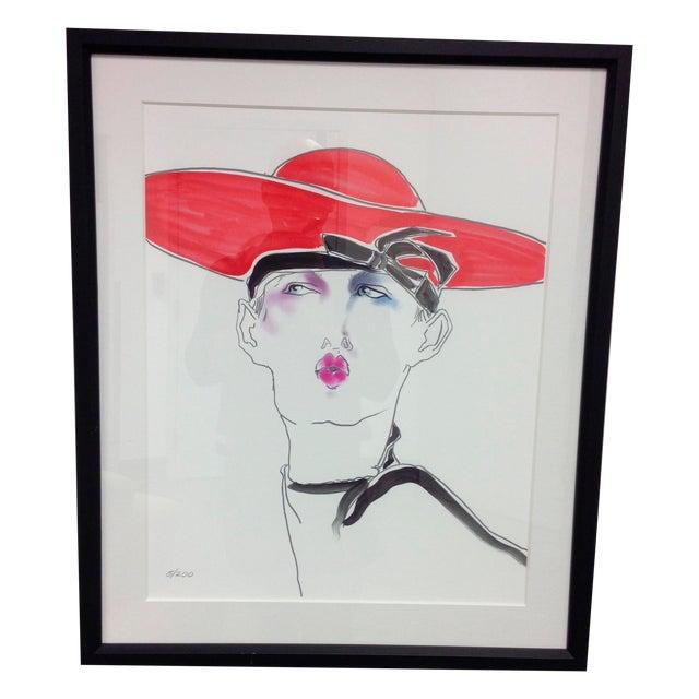 "Image of Tony Viramontes ""Portrait of Leslie Winer"" Print"