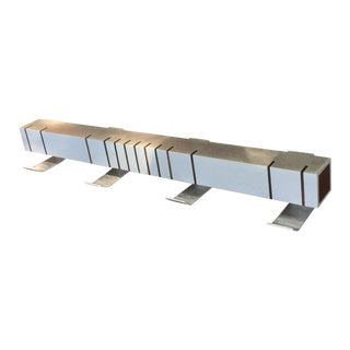 Custom Modern Aluminum & Walnut Inlaid Coat Rack