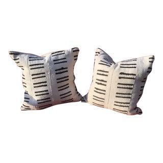 African Geometric Mud Cloth Pillows- Pair