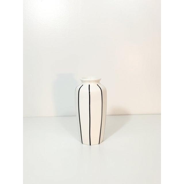 Image of Vintage Modern Striped Vase