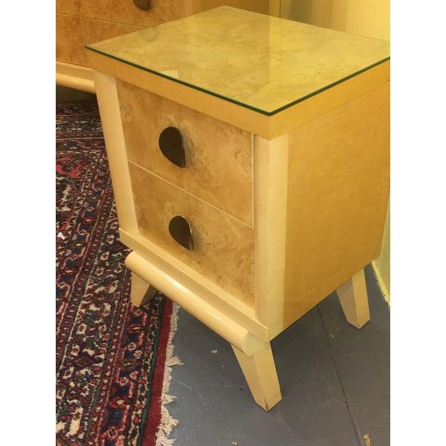 Mid-Century Blonde Nightstands Side Tables - Pair - Image 3 of 11