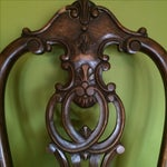 Image of Vintage Chippendale Carved Wood Side Chair