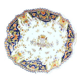 19th Century French Hand-Painted Faience Decorative Dish
