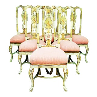 Painted Queen Anne Dining Chairs - Set of 6