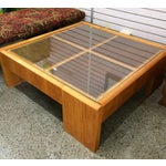 Image of Large Wooden Coffee Table
