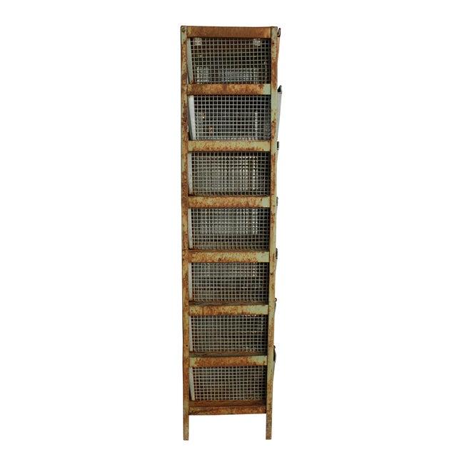 Vintage Locker Basket Unit - Image 2 of 3