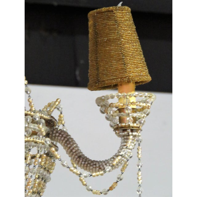 Petite French Empire Style Beaded Chandelier - Image 2 of 6