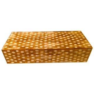 Mr. Brown Modern Dotted Wood Box