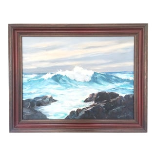 Wood Framed Seascape Painting