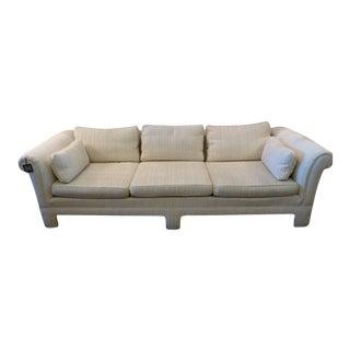 Vintage Nubby Cream Sofa