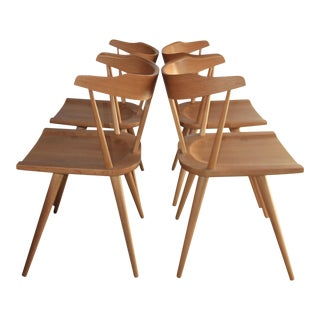 Set of Four Paul McCobb MapleT-Back Dining Chairs
