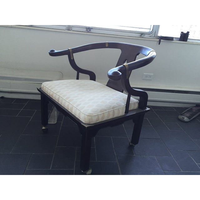 SOLD!Vintage Baker Asian Horseshoe Armchairs - Image 2 of 8