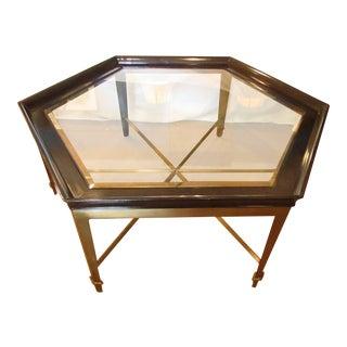 Large Hexagon Modern Metal Base Coffee Table