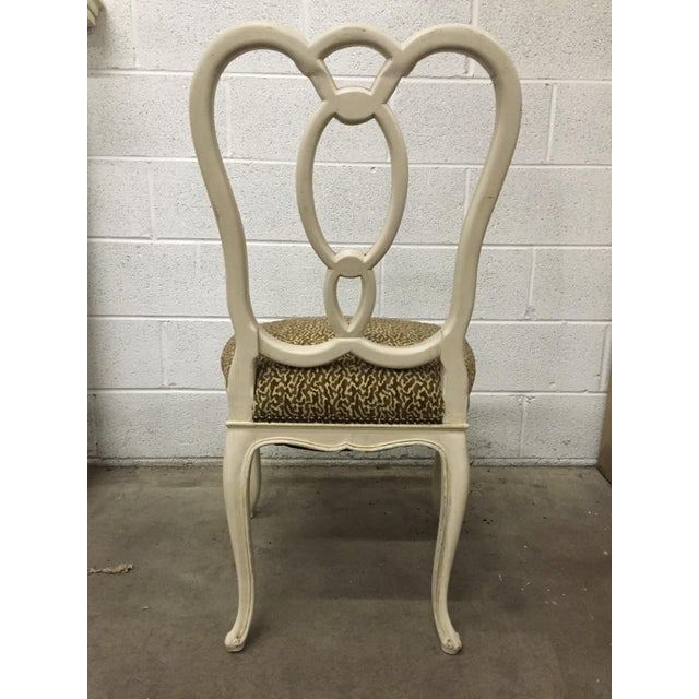 Image of Upholstered Ribbon-Back Chairs - A Pair