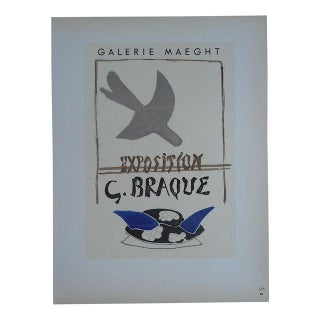 Braque Mid 20th C Modern Lithograph=Mourlot