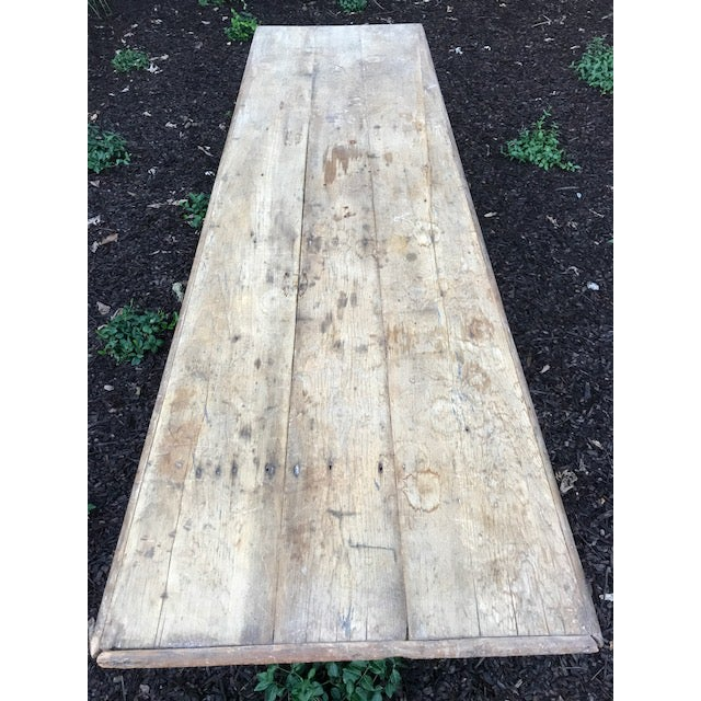 Antique Farmhouse Dining Table - Image 3 of 10