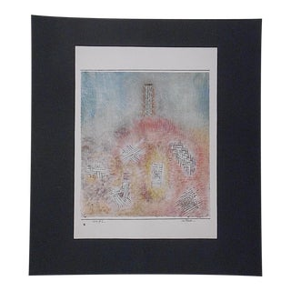 Vintage Klee Mid 20th C. Abstract Lithograph