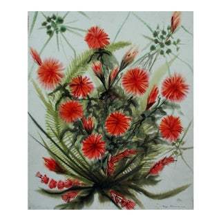 'Red Flowers' Original Painting by Faye Hammons