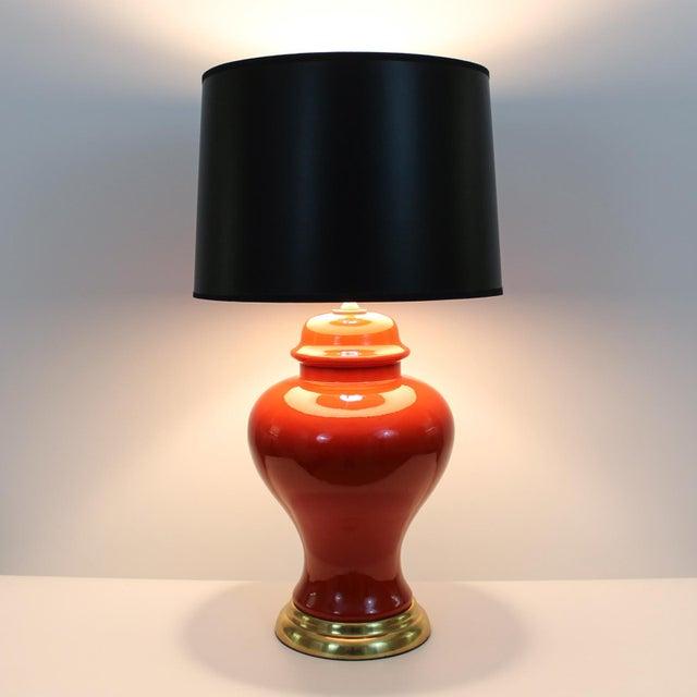 Image of Persimmon Ginger Jar Lamps - A Pair
