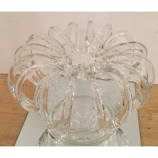 Antique glass crown form flower frog centerpiece vase